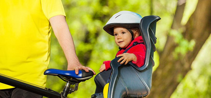 Olika skydd till cykelbarnstolarna